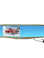 M12 4.3-Inch Screen Rearview Mirror Tachograph 1080P HD Wide-Angle Night Vision Dual Lens Reverse Image