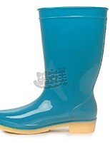 Women's Shoes Rubber Flat Heel Rain Boots Boots Outdoor Blue / Green / Purple