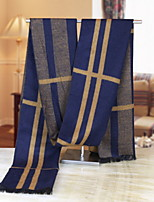 Korean Men Warm Winter Scarves Fashion Long Thick Wool Cashmere Knitting Spell Color Scarf