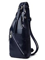 Men PU Messenger Shoulder Bag / Tote / Wallet / Card & ID Holder / Mobile Phone Bag-Blue / Black