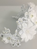 Women's Lace / Pearl / Tulle Headpiece-Wedding / Special Occasion Flowers / Wreaths 1 Piece