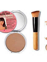 1PCS Makeup The B@lm Mary-Lou Manizer Bronzer & Highlighter Cosmetics+1 PCS High Quality Powder Brush