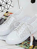 Women's Shoes Leatherette Flat Heel Comfort Fashion Sneakers Outdoor / Casual / Athletic Pink / White / Gray