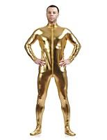 Unisex Shiny Zentai Suits Spandex / Shiny Metallic Golden Zentai