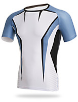 XINTOWN Men Short Sleeve Cycling Sports T-shirt Tight Polyster Quick Dry Tops