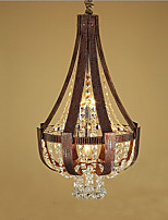 Post Modern Luxury Leather Crystal Creative Lron Chandelier