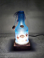 Creative Wine Bottle Lamp Bedroom Bedside Lamp Lighting Lamps of European Romantic Personality Gift(Random Color)