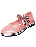 Girls' Shoes Outdoor / Casual Gladiator Leatherette Flats Black / Blue / Pink / Red