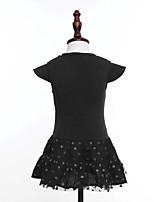 Robe Fille de Eté Coton Noir