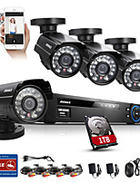 ANNKE 8CH 960H HDMI DVR 800TVL Security Kit IR Weatherproof Outdoor CCTV Camera Home Security System