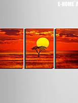 Paesaggio Print Canvas Tre Pannelli Pronto da appendere,Orizzontale