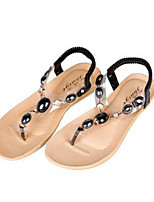 Women's Shoes Synthetic Flat Heel Flip Flops Sandals Outdoor / Casual Black / Blue / White