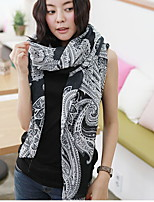 Spring And Autumn Korea Hot  Voile Cashew Big Flower Printed Long Chiffon Scarf Thin Beach Scarves