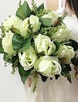 Buquês(Verde / Branco / Roxo,Cetim) - deRosas