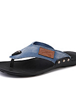 Men's Shoes Casual Denim Slippers / Flip-Flops Black / Blue / Navy