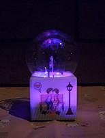 Violin Pattern Luminous Crystal Ball Music Box Creative Personality Water Spray Romantic Valentine's Day Birthday Gift