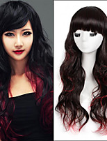 Long Length Wave Hair European Weave Multi-Color Hair Synthetic Wig