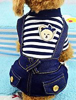 High Qulitity Pocket Jean Printing Pet T-Shirt
