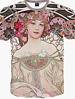 Men's Fashion Tee 3D Sexy Girl Print T-Shirts