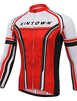 Red & Black XINTOWN Cycling Bike Long Sleeve Clothing Bicycle Jersey