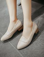 Chaussures Femme-Extérieure / Habillé / Décontracté-Noir / Rose / Beige-Gros Talon-Talons / Bout Pointu-Talons-Similicuir