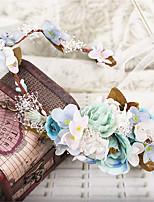 Handmade Silk Flower / Babysbreath Headpiece-Wedding / Special Occasion / Outdoor Wreaths 1 Piece