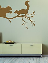 Animali / Romanticismo / Fashion / Astratto / Fantasia Adesivi murali Adesivi aereo da parete,PVC M:42*63cm/ L:55*82cm