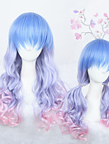 24inch Medium Long Wave Color Mixed Girls Synthetic Anime Lolita Hair Wig CS-286A