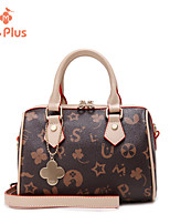 M.Plus® Women's Fashion Logo Print PU Leather Messenger Shoulder Bag/Tote