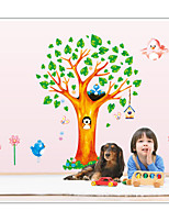 Animals Bear Wall Decal Botanical / Landscape Wall Stickers Plane Wall Stickers,Pvc 60*90cm