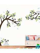 Kola Animals with Tree Wall Stickers Plane Wall Stickers,PVC Vinyl Decal
