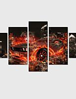 Astratto / Paesaggio / Cartoni animati Print Canvas Cinque Pannelli Pronto da appendere,Quadrato