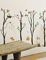 Fashion Autumn Trees Rabbits Birs PVC Wall Sticker Wall Decals