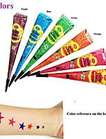 12x Colored GOLECHA HENNA Cone Paste Tattoo Temporary Ink Jagua Mehandi Kit Body Art