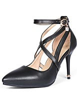 Women's Shoes Stiletto Heel/Pointed Toe Heels Party & Evening/Dress Black/Almond