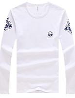 Men's Long Sleeve T-Shirt,Cotton Plus Sizes Print