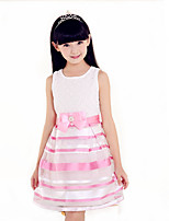 Girl's Black / Pink Dress,Print Polyester All Seasons