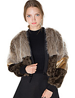 Women Faux Fur Top,Belt Not Included