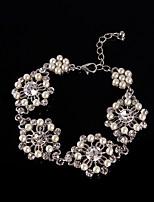 Women's Chain Bracelet Alloy Imitation Pearl / Rhinestone