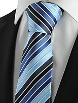New Striped Blue Navy Mens Tie Suits Necktie Party Wedding Holiday Gift KT1006