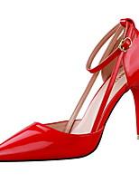 Calçados Femininos-Sandálias-Saltos / Bico Fino / Bico Fechado-Salto Agulha-Preto / Vermelho / Branco / Prateado / Cinza / Laranja-Courino