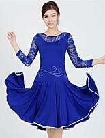 Vestidos(Negro / Azul / Rojo,Encaje / Fibra de Leche,Danza Latina) -Danza Latina- paraMujer