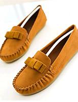 Women's Shoes Fleece Flat Heel Comfort Flats Outdoor / Casual Black / Blue / Brown / Yellow / Green / Red / Burgundy