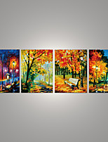 High quality canvas painting wall pictures 4panels wall art Night view canvas art home decor Modern Huge Pictures Canvas