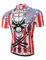 XINTOWN Mountain Bike Skull Sportwear Pro Team Cycling Jerseys Short Sleeve Bicycle Jersey