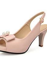 Women's Shoes Stiletto Heels/Platform/Open Toe Pearl Sandals Dress Blue/Pink/White/Khaki