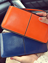 VENETA Women PU Tri-fold Clutch / Wallet-Blue / Orange / Black