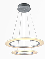 Modern LED Pendant Light Ceiling Hanging Chandeliers Lamp Fixtures with 2 ring 4060 CE FCC ROHS
