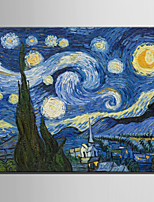mini størrelse e-home oliemaleri moderne stjernehimmel ren hånd tegne rammeløse dekorative maleri