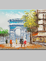 Mini Size Hand-Painted Triumphal Arch Landscape Modern Oil Painting On Canvas One Panel Ready To Hang 20x25cm